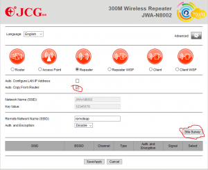 JCG Repeater Easy Config